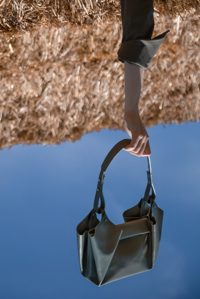upside down bag by eva blut, corolla small, creative photpgraphy concept